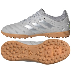 Buty piłkarskie adidas Copa 20.3 Tf Jr EF8343 szare szare