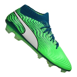 Buty piłkarskie Puma One 18.1 Fg M 104869-03 zielone zielony