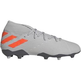 Buty piłkarskie adidas Nemeziz 19.3 Fg M EF8287 szare szary/srebrny