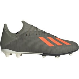 Buty piłkarskie adidas X 19.3 Fg M EF8365 zielony szare