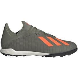 Buty piłkarskie adidas X 19.3 Tf M EF8366 szare zielony