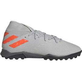 Buty piłkarskie adidas Nemeziz 19.3 M Tf EF8291 szare szary/srebrny