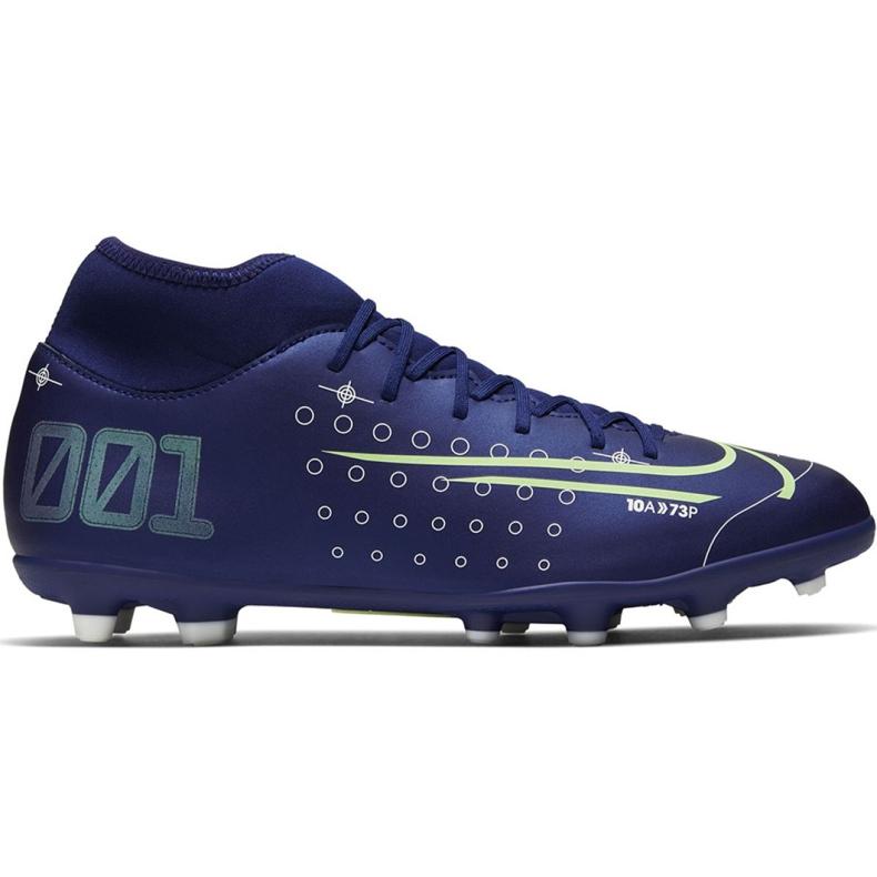 Buty piłkarskie Nike Mercurial Superfly 7 Club Mds FG/MG Jr BQ5418 401 niebieskie granatowe