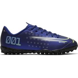 Buty piłkarskie Nike Mercurial Vapor 13 Club Mds Ic Jr CJ1174 401 granatowy granatowe