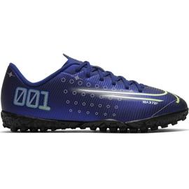 Buty piłkarskie Nike Mercurial Vapor 13 Academy Mds Tf Jr CJ1178 401 granatowe granatowy