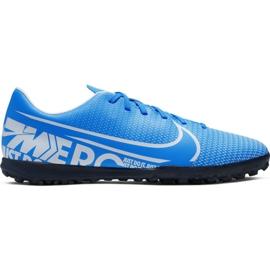 Buty piłkarskie Nike Mercurial Vapor 13 Club M Tf AT7999 414 niebieskie niebieski