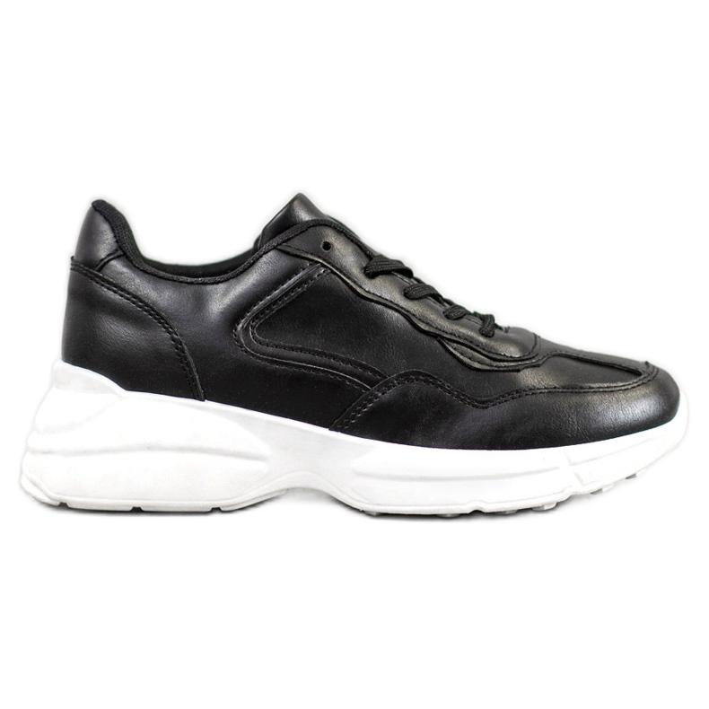 SHELOVET Czarne Sneakersy