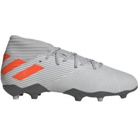 Buty piłkarskie adidas Nemeziz 19.3 Fg Jr EF8302 pomarańczowy, szary/srebrny szare