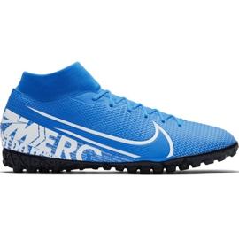 Buty piłkarskie Nike Mercurial Superfly 7 Academy M Tf AT7978 414 niebieskie biały, niebieski