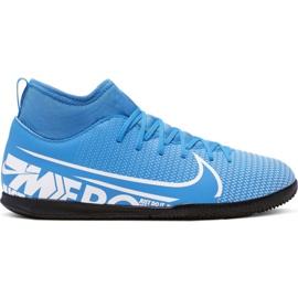 Buty piłkarskie Nike Mercurial Superfly 7 Club Ic Jr AT8153 414 biały, niebieski niebieskie