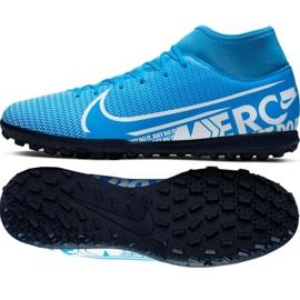 Buty piłkarskie Nike Mercurial Superfly 7 Club M Tf AT7980 414 czarne czarny, szary/srebrny