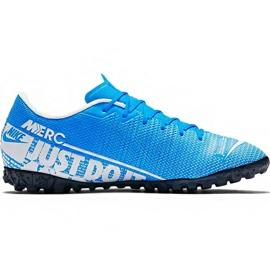 Buty piłkarskie Nike Mercurial Vapor 13 Academy M Tf AT7996 414 niebieskie biały, niebieski