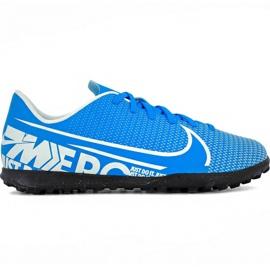 Buty piłkarskie Nike Mercurial Vapor 13 Club Tf Jr AT8177 414 niebieskie biały, niebieski