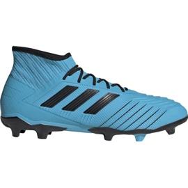 Buty piłkarskie adidas Predator 19.2 Fg M F35604 niebieskie czarny, niebieski