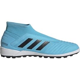 Buty piłkarskie adidas Predator 19.3 Ll Tf M EF0389 niebieskie czarny, niebieski