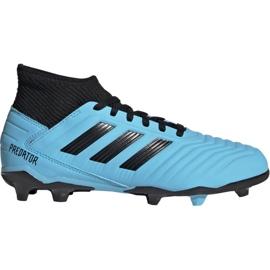 Buty piłkarskie adidas Predator 19.3 Fg Jr G25796 niebieskie czarny, niebieski