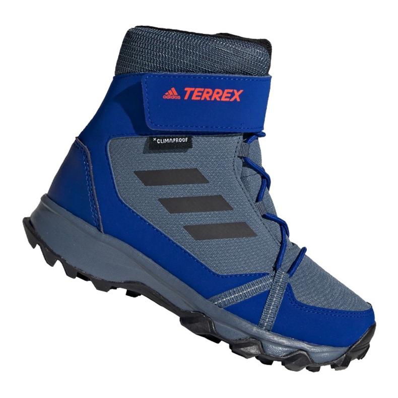 Buty adidas Terrex Snow Cf Cp Cw Jr G26579 niebieskie wielokolorowe