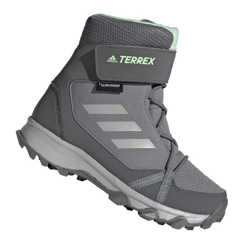 Buty adidas Terrex Snow Cf Cp Cw Jr G26580 szare