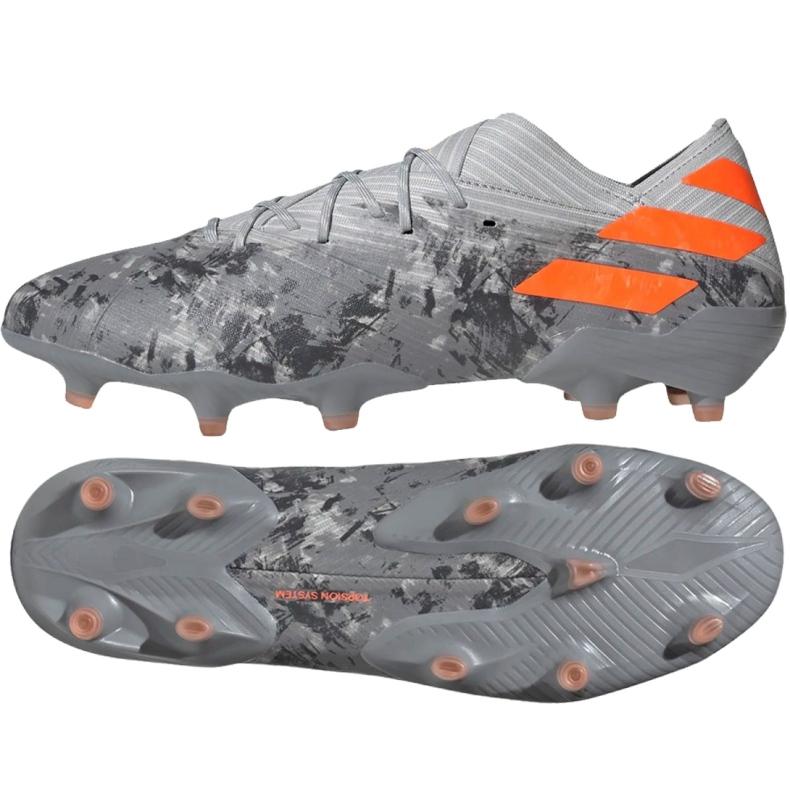 Buty piłkarskie adidas Nemeziz 19.1 Fg M EF8281 szare czerwone