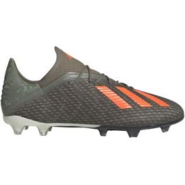 Buty piłkarskie adidas X 19.2 Fg M EF8364 szare zielony