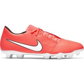 Buty piłkarskie Nike Phantom Venom Club Fg M AO0577 810 pomarańczowe biały, pomarańczowy