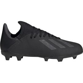 Buty piłkarskie adidas X 19.3 Fg Jr F35364 czarny czarne