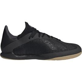 Buty piłkarskie adidas X 19.3 In M F35369 czarny czarne