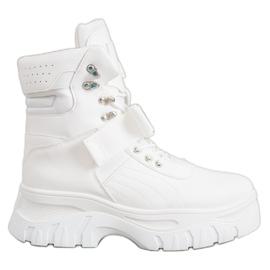 Seastar Ciepłe Botki Fashion białe