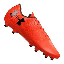 Buty piłkarskie Under Armour Magnetico Select Fg M 3000115-600 pomarańczowy