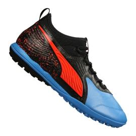 Buty piłkarskie Puma One 19.3 Lth Tt Tr M 105489-01 czarne czarny, czerwony, niebieski
