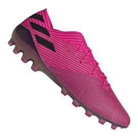 Buty piłkarskie adidas Nemeziz 19.1 Ag Fg M FU7033 różowy różowe