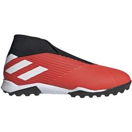 Buty piłkarskie adidas Nemeziz 19.3 Ll Tf M G54686 czerwone czarny, czerwony