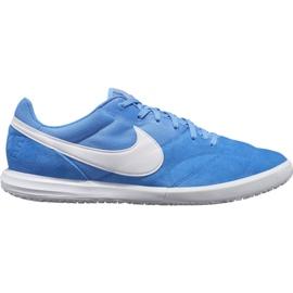 Buty piłkarskie Nike Premier Ii Sala Ic M AV3153 414 biały, niebieski niebieskie