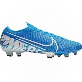 Buty piłkarskie Nike Mercurial Vapor 13 Elite Fg M AQ4176 414 biały, niebieski niebieskie