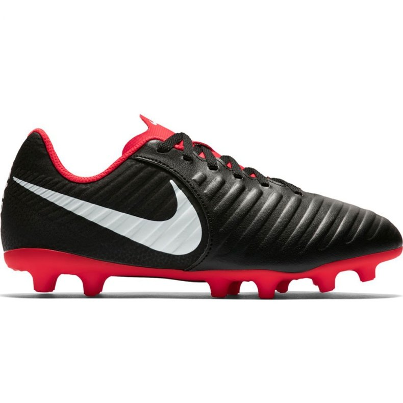 Buty piłkarskie Nike Tiempo Legend 7 Club Mg Jr AO2300 006 czarne wielokolorowe