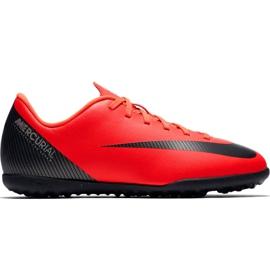 Buty piłkarskie Nike Mercurial Vapor X 12 Club Gs CR7 Tf Jr AJ3106 600 czerwone