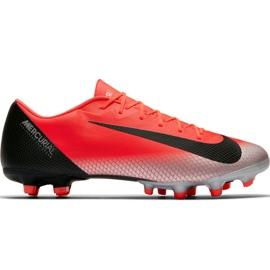Buty piłkarskie Nike Mercurial Vapor 12 Academy CR7 Mg M AJ3721 600 czarny, pomarańczowy