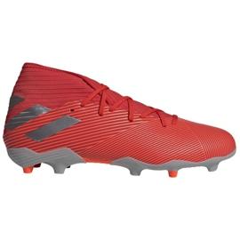 Buty piłkarskie adidas Nemeziz 19.3 Fg M F34389 czerwony, szary/srebrny czerwone