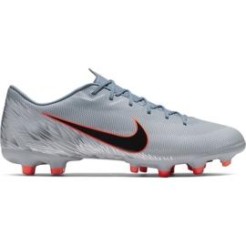 Buty piłkarskie Nike Mercurial Vapor 12 Academy Mg M AH7375 408 pomarańczowy, szary/srebrny szare