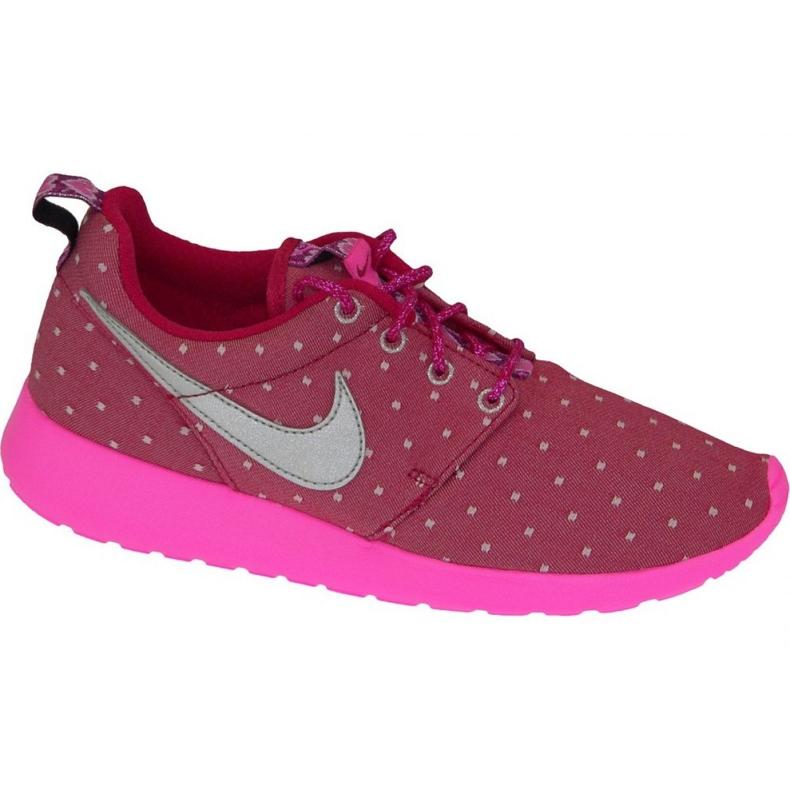 Buty Nike Rosherun Print Gs W 677784-606 różowe