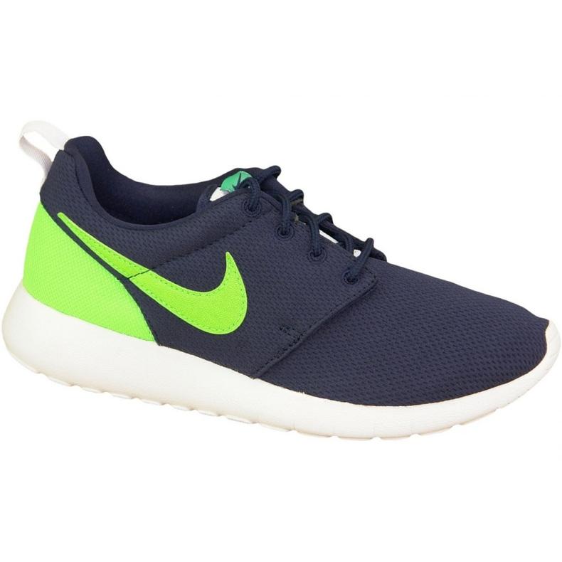 Buty Nike Roshe One Gs W 599728-413 granatowe zielone