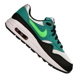 Buty Nike Air Max 1 Gs Jr 807602-111 czarne wielokolorowe zielone