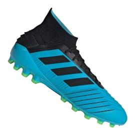 Buty piłkarskie adidas Predator 19.1 Ag M F99970 niebieskie niebieski