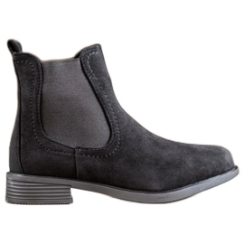 Ideal Shoes Casualowe Sztyblety czarne