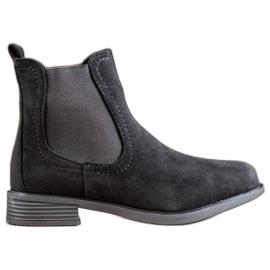 Ideal Shoes Casualowe Sztyblety czarne