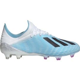 Buty piłkarskie adidas X 19.1 M Fg F35316 biały, niebieski niebieskie