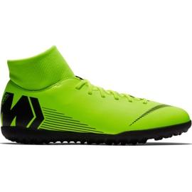 Buty piłkarskie Nike Mercurial Superfly 6 Club Tf M AH7372 701 zielone czarny, zielony