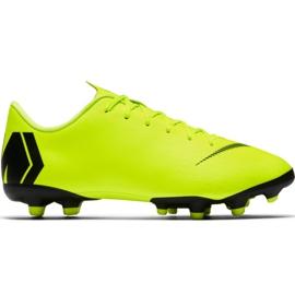 Buty piłkarskie Nike Mercurial Vapor 12 Academy Mg Jr AH7347 701 czarny, zielony żółte
