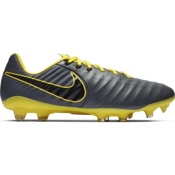 Buty piłkarskie Nike Tiempo Legend 7 Pro Fg M AH7241 070 szare czarny, żółty