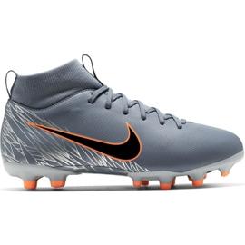 Buty piłkarskie Nike Mercurial Superfly 6 Academy Mg Jr AH7337 408 pomarańczowy, szary/srebrny szare